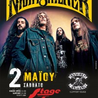 nightstalker, live, larissa, rock, stage